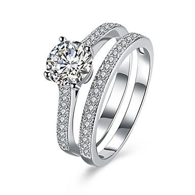 Dames Ring Zirkonia Gepersonaliseerde Luxe Cirkelvormig ontwerp Meetkundig Uniek ontwerp Klassiek Vintage Bohémien Standaard Hart