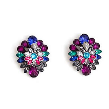 Damskie Kolczyki wiszące sztuczna Diament Wiszący Modny euroamerykańskiej Kwiaty Kamień szlachetny Biżuteria NaŚlub Impreza Specjalne