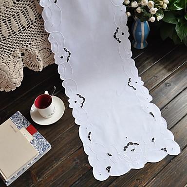 Rectangulaire Embroidered Table Runners , 100% Cotton materiaaliHotel ruokapöytä Häät Party Sisustus Häihin Illallinen Joulu Sisustus