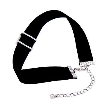 Damskie Naszyjniki choker Kryształ Kwadrat Osobiste euroamerykańskiej Black Biżuteria Na Ślub Impreza 1szt
