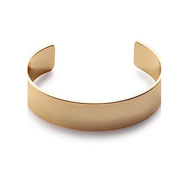 Damskie Bransoletki cuff Biżuteria Modny Miedź Circle Shape Gold Silver Biżuteria Na Impreza Specjalne okazje 1szt
