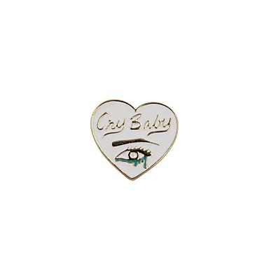 Pentru femei Broșe Bijuterii Personalizat Inimă Prietenie Cute Stil Euramerican Email Aliaj Inimă Bijuterii Pentru Nuntă Petrecere Ocazie