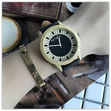 Γυναικεία Ρολόι Καρπού Μοναδικό Creative ρολόι Καθημερινό Ρολόι Ρολόι Ξύλο Κινέζικα Χαλαζίας / ξύλινος Δέρμα Μπάντα Καθημερινό Απίθανο