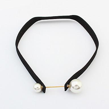 billige Mode Halskæde-Dame Kort halskæde Smykker Smykker Perle Fjer Legering Mode Personaliseret Euro-Amerikansk Smykker Til Fest Speciel Lejlighed