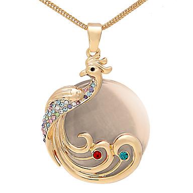 Damskie Naszyjniki z wisiorkami Kryształ Spersonalizowane Okragły Modny euroamerykańskiej Biżuteria Na Ślub Impreza