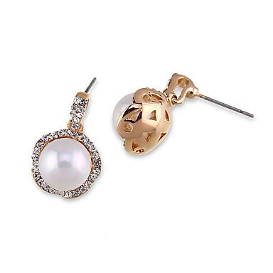 مجموعة أقراط كريستال تصميم دائري شخصية euramerican في سبيكة أبيض مجوهرات إلى زفاف حزب عيد ميلاد 1 زوج