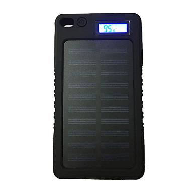 8000mAh البنك طاقة البطارية الخارجية 5V 1.0AA شاحن بطارية ضوء فلاش شحن شمسي LCD