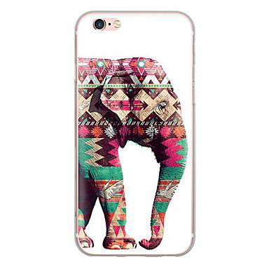 voordelige iPhone 6 Plus hoesjes-hoesje Voor Apple iPhone X / iPhone 8 Plus / iPhone 8 Ultradun / Patroon Achterkant dier / Olifant Zacht TPU