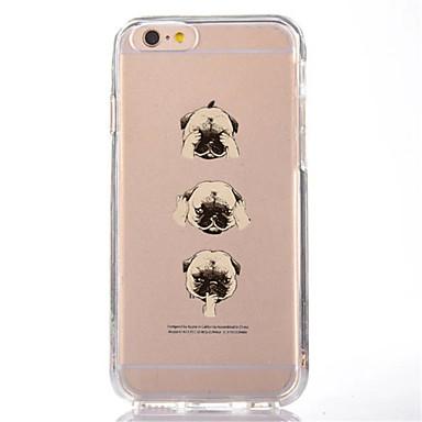 Voor iphone 7 cartoon hond tpu zachte ultra dunne achterhoes hoesje voor apple iphone 7 plus 6s 6 plus se 5s 5 5c 4s 4
