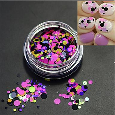 1bottle fierbinte de moda dulce arta de unghii colorat sclipici paillette roz felie diy diy frumusete decorare p15