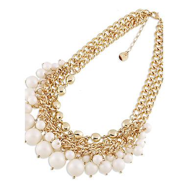 للمرأة فروع القلائد لؤلؤ تقليدي شخصية euramerican في أسلوب بسيط والمجوهرات مجوهرات من أجل زفاف حزب