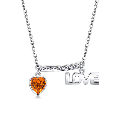 Naisten Riipus-kaulakorut Kristalli Geometric Shape Love Heart Muoti Personoitu Euramerican Korut Käyttötarkoitus Häät Party