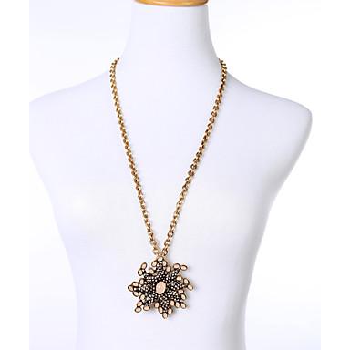 Damskie Naszyjniki z wisiorkami Flower Shape Unikalny Osobiste Biżuteria Na Casual
