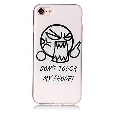 hoesje Voor Apple iPhone 7 Plus iPhone 7 IMD Reliëfopdruk Achterkant Woord / tekst Cartoon Zacht TPU voor iPhone 7 Plus iPhone 7 iPhone