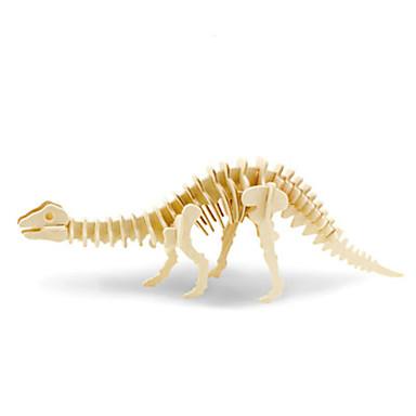 قطع تركيب3D ديناصور لهو خشب كلاسيكي
