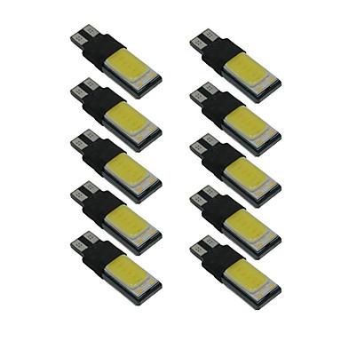 10pcs t10 lămpi pentru lămpi de talpă w5w 6000k lumina interioară auto canbus dc9-12v