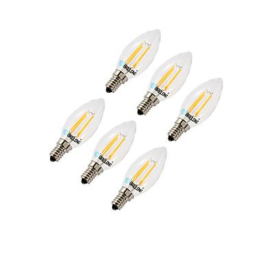 4W E14 Becuri LED Corn C35 4 led-uri COB Intensitate Luminoasă Reglabilă Alb Cald Alb Rece 350lm 2700-3200 6000-6500K AC220V