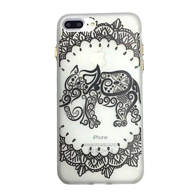 Hülle Für Apple Im Dunkeln leuchtend Muster Rückseitenabdeckung Lace Printing Elefant Weich TPU für iPhone 7 plus iPhone 7 iPhone 6s Plus