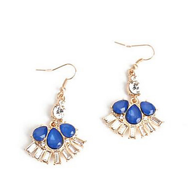 Kolczyki wiszące sztuczna Sapphire Wiszący Modny euroamerykańskiej Kamień szlachetny Orange Dark Blue Biżuteria NaŚlub Impreza Specjalne