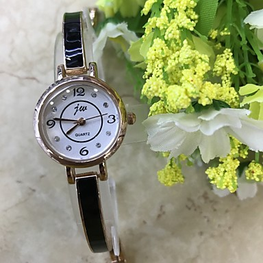 Damen Armbanduhr Armband-Uhr Simulierter Diamant Uhr Modeuhr Chinesisch Quartz / Imitation Diamant Legierung Band Freizeit Rotgold