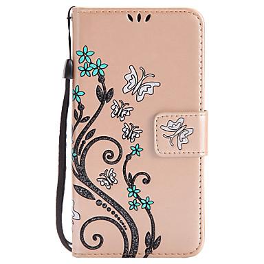 tok Για Samsung Galaxy J7 (2016) J5 (2016) Θήκη καρτών Πορτοφόλι με βάση στήριξης Ανοιγόμενη Με σχέδια Πλήρης Θήκη Λουλούδι Σκληρή PU
