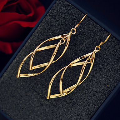 Kadın's Damla Küpeler Mücevher Sallantılı Stil Kolye alaşım Mücevher Düğün Parti Özel Anlar Doğumgünü Teşekkür ederim Nişan Hediye Günlük