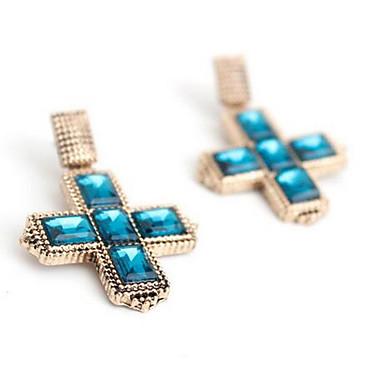 Damla Küpeler imitasyon Safir Sallantılı Stil Moda Euramerican Değerli Taş Koyu Mavi Mücevher Için Düğün Parti Özel Anlar 1 çift