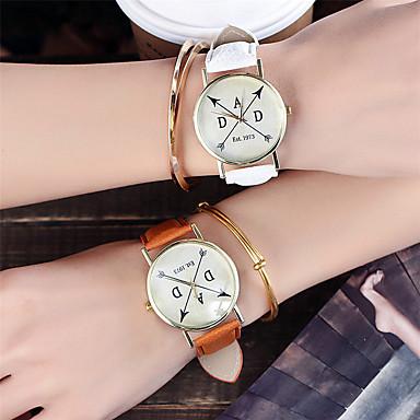 Dames Modieus horloge Polshorloge Unieke creatieve horloge Vrijetijdshorloge Chinees Kwarts / Kleurrijk Leer BandGlitter Cool