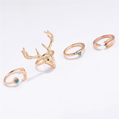 للمرأة خاتم مجوهرات مخصص موضة euramerican في يوميا فضفاض الأماكن المفتوحة كروم حيوان الحلقات
