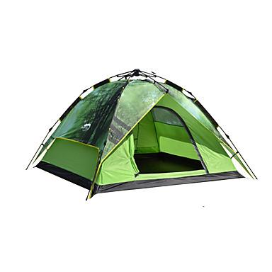 DesertFox® 3-4 أشخاص خيمة الكاميرا مضاعفة خيمة التخييم غرفة واحدة أوتوماتيكي الخيمة مقاوم للماء مكتشف الأمطار إلى تخييم 2000-3000 مم