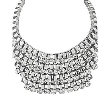 Pentru femei Personalizat Clasic Vintage Modă Ajustabile Elegant Coliere Diamant sintetic Aliaj Coliere . Zi de Naștere Logodnă Zilnic