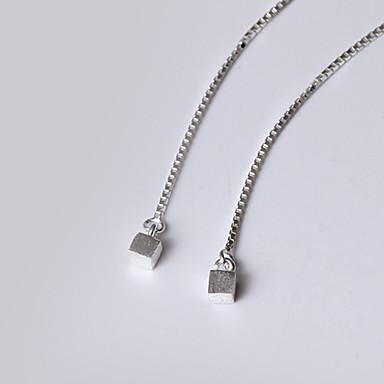 Damskie Kolczyki wiszące Biżuteria Spersonalizowane Godny podziwu euroamerykańskiej minimalistyczny styl Srebro standardowe Biżuteria Na