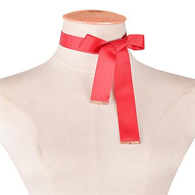 Pentru femei Bowknot Shape Personalizat De Bază Modă Adorabil Euramerican stil minimalist Coliere Choker Bijuterii Material Textil