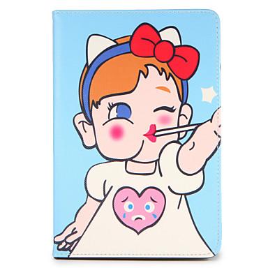 Hülle Für Apple iPad 4/3/2 iPad Air 2 iPad Air mit Halterung Flipbare Hülle Muster Ganzkörper-Gehäuse Cartoon Design Hart PU-Leder für