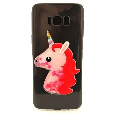 غطاء من أجل Samsung Galaxy S8 Plus S8 سائل متدفق شفاف نموذج اصنع بنفسك غطاء خلفي آحادي القرن بريق لماع ناعم TPU إلى S8 S8 Plus S7 edge S7