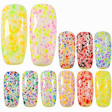 0.2g / sticlă diamant sticlă de moda dulce stil de unghii arta colorat bomboane culori fulg de zăpadă neregulate fiole frumos diy