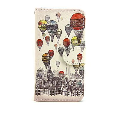 hoesje Voor Apple iPhone 7 Plus iPhone 7 Kaarthouder Portemonnee met standaard Flip Volledig hoesje Balloon Hard PU-nahka voor iPhone 7