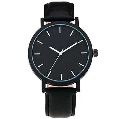 Herrn Modeuhr Armbanduhr Armbanduhren für den Alltag Chinesisch Quartz PU Band Freizeit Cool Minimalistisch Schwarz Braun
