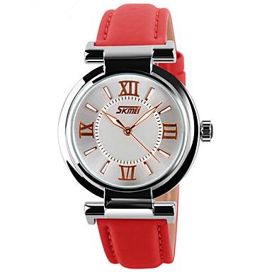 Pentru femei Piloane de Menținut Carnea Ceas de Mână Chineză Calendar Mare Dial Piele Autentică Bandă Charm Creative Ceas Elegant Elegant