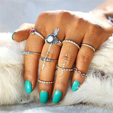 Heren Dames Ring Sieraden Meetkundig Uniek ontwerp Vintage Bohémien Acryl Cirkel Brits Turks Euramerican Modieus Eenvoudige Stijl Punk