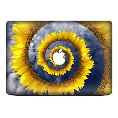 1 قطعة مقاومة الحك الأزهار/النباتية بلاستيك شفاف لاصق الجسم نموذج إلىMacBook Pro 15'' with Retina MacBook Pro 15'' MacBook Pro 13'' with