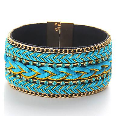 للمرأة أساور مجوهرات موضة بانغك جلد سبيكة دائري مجوهرات مناسبة خاصة الرياضة مجوهرات