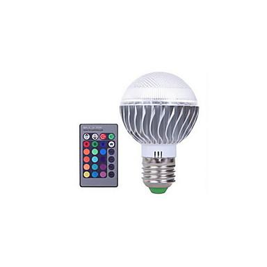 3W 300 lm E27 Bulb LED Glob A60(A19) 1 led-uri LED Integrat Intensitate Luminoasă Reglabilă Decorativ Telecomandă RGB AC 85-265V
