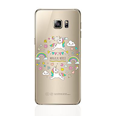 hoesje Voor Samsung Galaxy S8 Plus S8 Transparant Patroon Achterkantje Cartoon Zacht TPU voor S8 Plus S8 S7 edge S7 S6 edge plus S6 edge