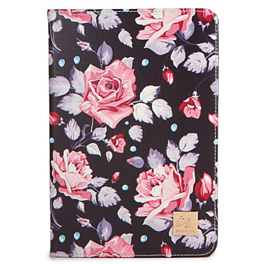 Voor appel ipad (2017) pro 9.7 '' case hoesje met tribune flip patroon full body hoesje bloem hard pu leder lucht 2 lucht ipad2 3 4