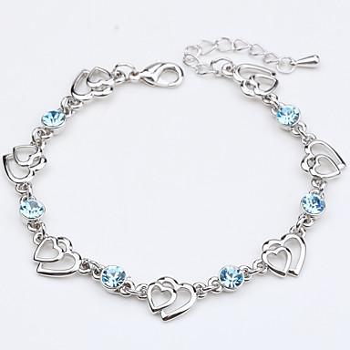Dames Armbanden met ketting en sluiting Sieraden Natuur Modieus Vintage Met de hand gemaakt Kristal Legering Ronde vorm Rechthoekige vorm