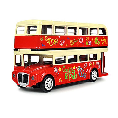 لعبة سيارات ألعاب حافلة ألعاب الموسيقى والضوء حافلة سبيكة معدنية قطع للأطفال للجنسين هدية