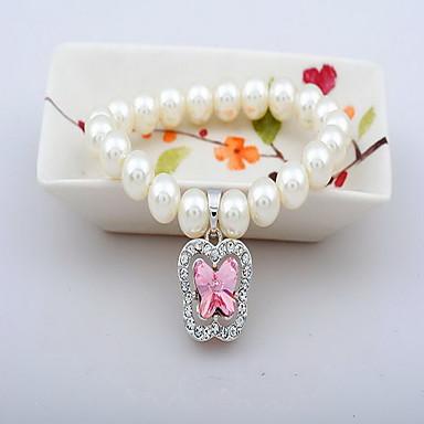 Pentru femei Brățări cu Lanț & Legături Bratari Strand Bijuterii Vintage Natură Modă Confecționat Manual Perle Cristal Aliaj Bijuterii