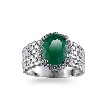 Herrn Ring Synthetischer Smaragd Grün Smaragdfarben Aleación Anderen Einzigartiges Design Euramerican Modisch Hochzeit Besondere Anlässe