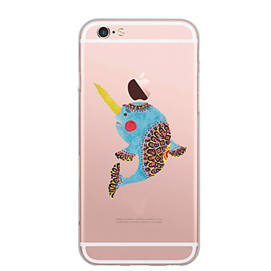 Hülle Für Apple iPhone 7 Plus iPhone 7 Ultra dünn Muster Rückseite Cartoon Design Weich TPU für iPhone 7 Plus iPhone 7 iPhone 6s Plus